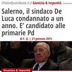 Vi chiedo solo un minuto di riflessione PRIMARIE #PD Vince con il 52% De Luca http://t.co/jacLsi2Jq7