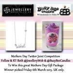 Candles & jewels for mum?  WIN!   Follow & RT @JewelleryWeb & @BusyBeeCandles for the perfect Mothers Day gift!   http://t.co/fHjDMbBLXR