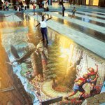 This amazing 3D illusion was painted on the pavement at #JBR for #DubaiCanvas http://t.co/hQo2vLboZP #Dubai http://t.co/xsFLuHL36N