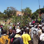 Butchermen protesting in Nyeri town. Residents will eat no meat today http://t.co/n8ukQ5OJrt via @Josephwangui2