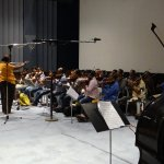 Orchestra session for #Baahubali is now happening at Prasad Labs, under the supervision of MM Keeravaani garu.. http://t.co/Ch8gEOxNrp