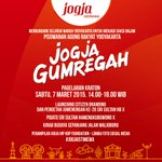 Mari menjadi bagian sejarah Pisowanan Agung Rakyat #JogjaIstimewa di Pagelaran Kraton | Sabtu, 7 Maret | 15.00 WIB http://t.co/GIs4QJhSGM