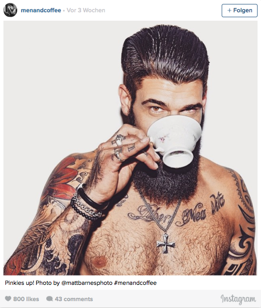Instagram Hit Schöne Männer Posieren Mit Kaffee Das Ergebnis