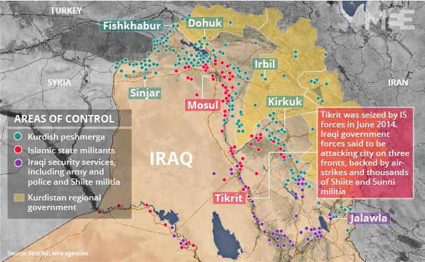 good map of who controls where in n iraq as tikrit offensive starts via middleeasteye