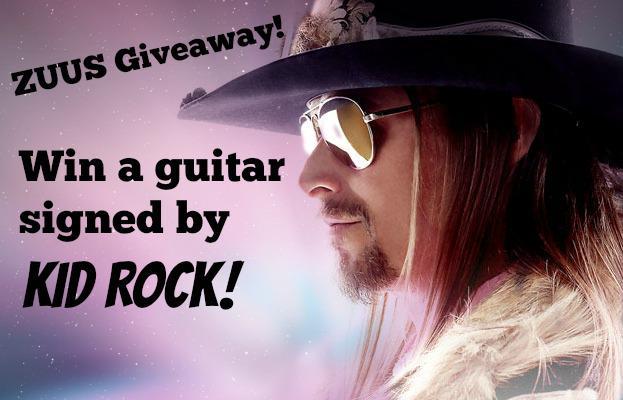 Feelin' lucky? Enter to win! Follow @ZUUSMedia & RT '@ZUUSMedia I want to win a signed @KidRock guitar! #ZUUSSWEEPS' http://t.co/skGutBn11s