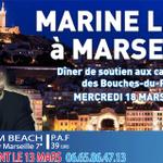 Nous aurons lhonneur daccueillir @MLP_officiel à #Marseille le 18 mars ! Venez nombreux ! #Départementales2015 http://t.co/4NLgUESgMt