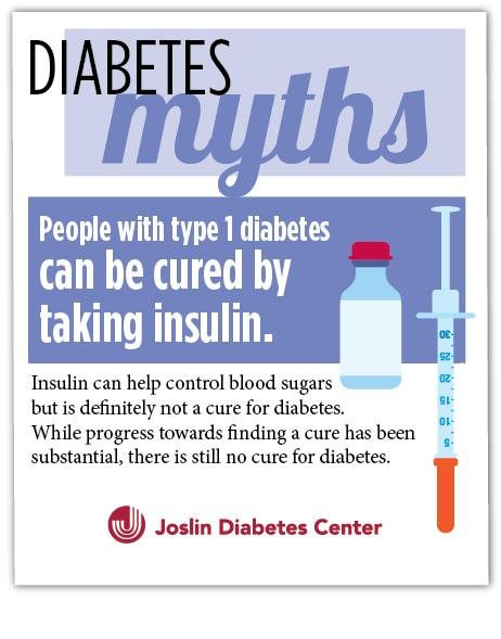 #Diabetes Myths - People with #T1D can be cured by taking #insulin http://t.co/PsXi1wGgjX #MythMonday http://t.co/ElFGiXffOk