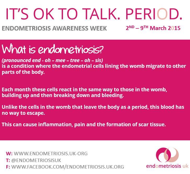 How you explain what endometriosis is? #EndometriosisAwarenessWeek #letstalkperiod http://t.co/9sewaQ3pVa
