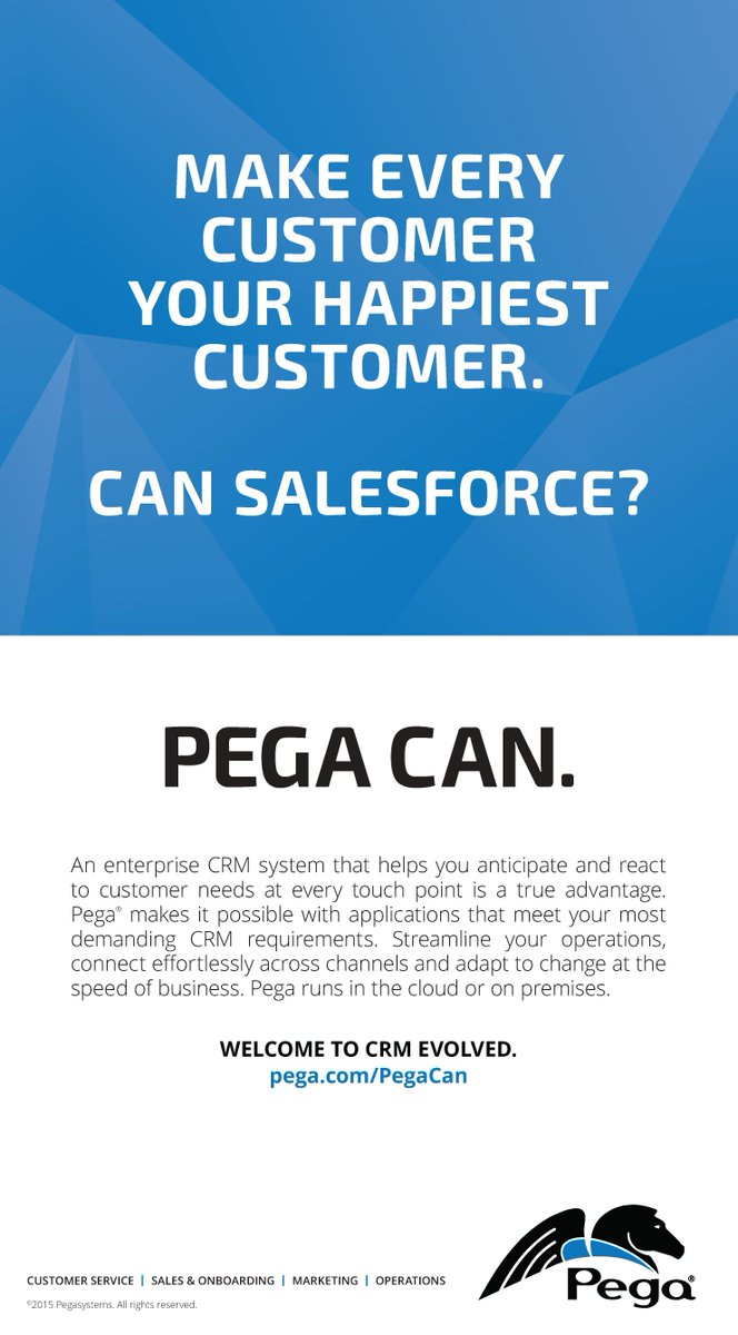 We're excited to kick off our #PegaCan advertising campaign.Visit http://t.co/yVHY2davBP if your crm isn't up to task http://t.co/7HP1ZX3Xcg
