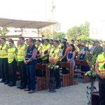 En patios del comando de la @PoliciaEcuador de #Manabí se realiza la misa de acción de gracia por aniversario. http://t.co/OxBBoSwnFS
