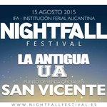 Ven a La Antigua UA para comprar tus entradas del @Nightfallfest !! Somos el unico punto de venta en San Vicente! http://t.co/Cy3pIGEdov