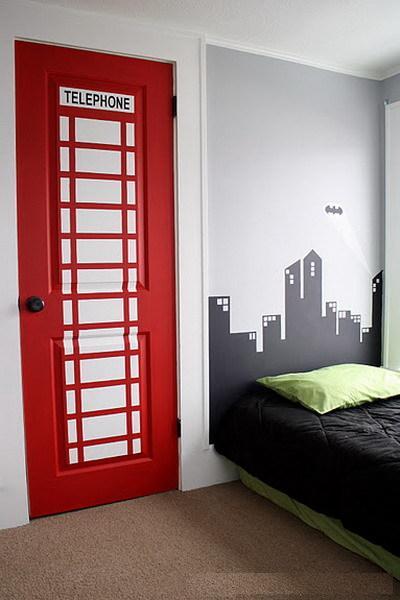 Декорирование межкомнатной двери