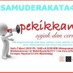 @jogja24jam #samuderakata43 Sabtu 07/03/15 18.30-selesai di @dongengkopi | daftar mention @puisiindojgj http://t.co/wt4qDKxKEB