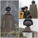 Una peluca cubrió el monumento de la Mitad del Mundo. Te contamos el motivo: http://t.co/t5Q3TthZV7 #Quito http://t.co/EFRquHvfkh