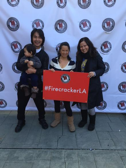 Had fun meeting Shannon lee @brucelee daughter at yesterday's @firecracker10k w martial arts pro robin shou http://t.co/cUNBgU7gDc