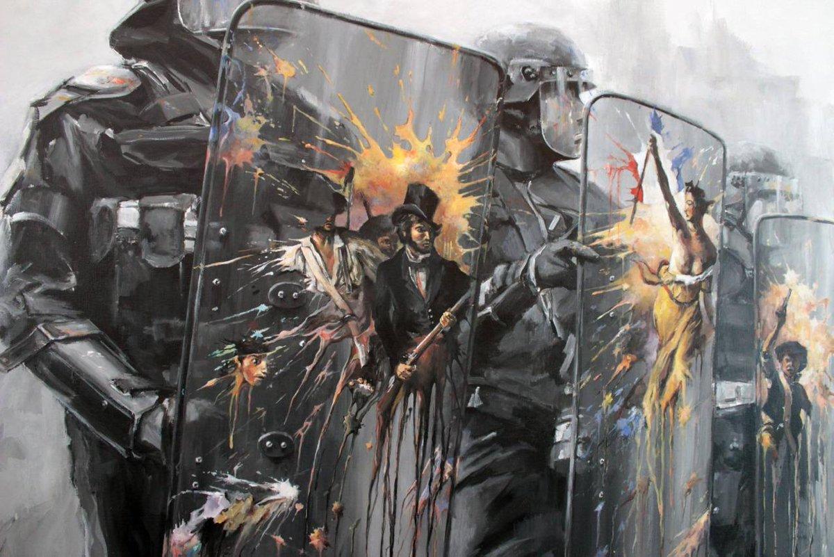 MT @Fatcap: Art can be a weapon. by @PejacArt / @Pejac_art #graffiti #streetart #artisaweapon http://t.co/7Ay7Jw8XEq