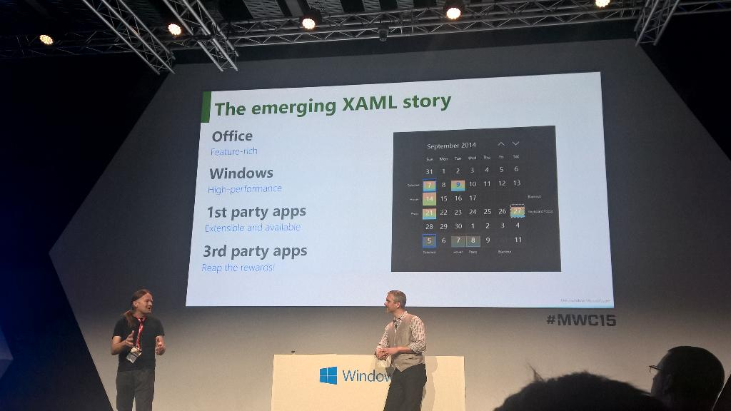 Everything is XAML now. Amen! #Windows10 #mwc15 http://t.co/obpL3bZf1M