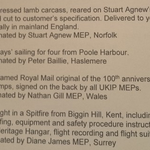 UKIP held a fundraising auction at their party conference and the lots were pure UKIP: http://t.co/KnMaCZ6P7o http://t.co/Jt5KcTtUvR