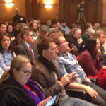 Packed house at capitol for public hearing on #RightToWork. Scheduled for 10 hours #WSAW http://t.co/GzbAkSPPqB