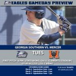 Baseball set to host Mercer Tuesday. Eagles will open Sun Belt play at home this weekend vs. Appalachian State. #GATA http://t.co/tuT4zQen2t