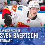 OFFICIAL - #Canucks acquire Sven Baertschi from Flames. Release - http://t.co/79IViyXHw9 http://t.co/ngviafnD9H