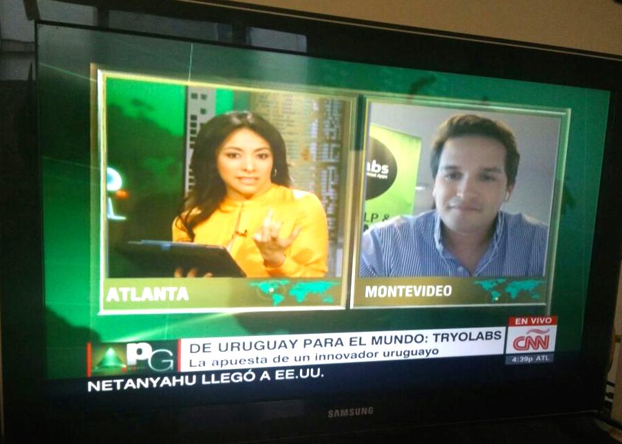 Gracias @gfrias y @CNNEE por la entrevista sobre #AI de @tryolabs y @monkeylearn! #PortafolioGlobal http://t.co/yz0qGSJquG