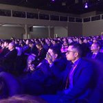 Audience a mix of highly interested, very cold (me) and falling asleep here at Zuck keynote at #MWC15 http://t.co/fAShId4GAA