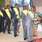 President Jonathan presenting medals & certificates at the NYSC Honours Award at the Villa, Mon. http://t.co/y9sdfca4TU