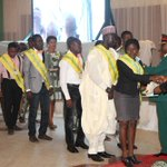 President Jonathan presenting medals & certificates, 2012-2014 Presidents NYSC Honours Award at the Villa, Mon. http://t.co/RMhO83ktTj
