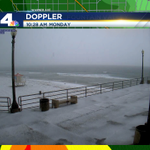 Whoa! Hail covering the pier and beach at Huntington Beach! Storm still pushing inland. http://t.co/NLgm4ITUFY