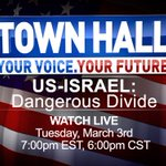 Well stream an exclusive roundtable discussion on U.S.-Israel relations March 3 at 6 p.m. CST http://t.co/v9w2mehG53 http://t.co/DCYubrVRSu