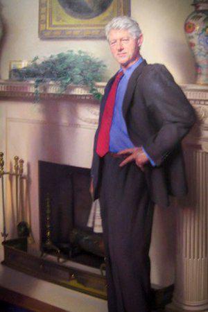 Bill Clinton Portrait Contains Hidden Monica Lewinsky Reference, Painter Says