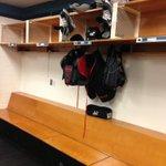 Hertl a bit lonely as locker neighbours (Desjardins, Sheppard, Kennedy) all gone http://t.co/sFlXbUzrzY