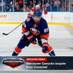#TradeCentre: @VanCanucks acquire Cory Conacher from @NYIslanders in exchange for Dustin Jeffrey. http://t.co/JMs1vq7nVX