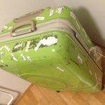 The trip to Ylläs was my green suitcases last one as it broke😭Who can make the best RIP edit for it? #IsacSuitcase http://t.co/Z3zaC4fYna