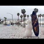 RT @RICKatFOX: Heading here next! I know @RICKatFOX would appreciate. In Huntington Beach, on our balcony, snowman http://t.co/CVfmw3JKgs