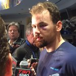 """Kassian also says his eye """"looks worse than it feels."""" #Canucks http://t.co/zub5GWG5qQ"""