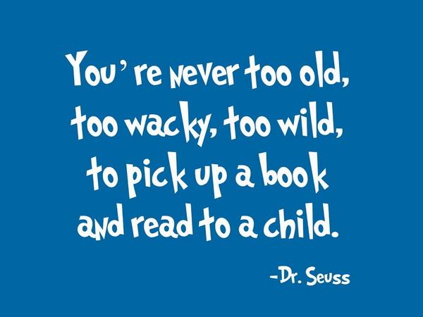 Agree! Thanks Dr Seuss for the cheer