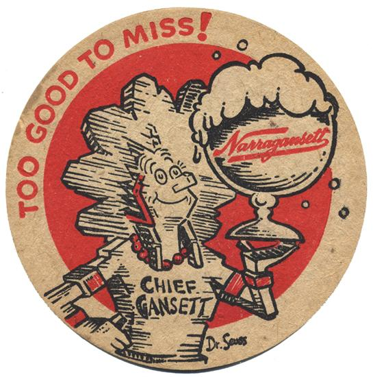 Happy Birthday #DrSeuss! Back in the 40's he illustrated all sorts of ads and merch for us, including Chief Gansett! http://t.co/lbCop13Keo