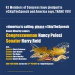 RT @Mindmenow: @rk70534.@NancyPelosi .@SenatorReid #SkipTheSpeech Obama, Biden &Kerrys boycott of the speech &AIPAC. http://t.co/XAS6WeT8JA