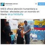 http://t.co/rY21g5QAh8: Hace eco de la entrega de ayuda humanitaria de @MIES_Zona4 #Manta http://t.co/ZHt0FnNwCe http://t.co/rWxx2hwo9H