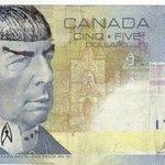 Fãs colocam Spock nas notas de 5 dólares canadenses. http://t.co/thFtBD3b8M http://t.co/sTF8uZjRFh