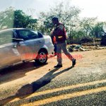 Se mantiene larga fila de vehículos en vía rápida Tuxtla - San Cristobal por accidente a la altura de Km 9 http://t.co/yAQXZihPnL