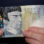 """""""Spocking"""" the $5 bill isnt illegal, but Bank of Canada asks people to resist the urge anyway http://t.co/QrySCsVJLE http://t.co/8k3QjG7UUK"""