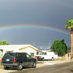 What a great rainbow in the Yuma Foothills sent in by @13OnYourSide viewer Dawn Widders McNamara #azwx http://t.co/opC1a7f6sa