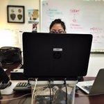 Scrappy! MT @chMtnViewPD #BehindTheScenes @MountainViewPD social media. Yes, thats a cell car mount on her desk http://t.co/qLeOuxyrwC