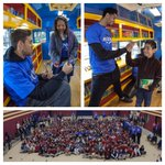 The Thunder marked the Book Bus milestone at Buchanan Elementary in OKC. Full coverage on http://t.co/Ci2ZpoqFFb. http://t.co/rpYcBZKHgw