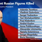 RT @BloombergTV: Here are all the Russian political figures who have been killed since Putin took office http://t.co/zCxXgXRbk8 http://t.co…
