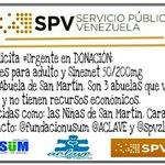#ServicioPúblico #Urgente en #Donación pañales para adulto y Sinemet 50/200mg #Ccs / @ElNacionalWeb http://t.co/9QOZqDhYqJ