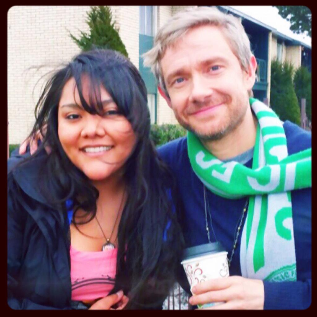We got time with a scruffy Martin Freeman today. We won life. And nothing hurts. http://t.co/flxyN5j9my